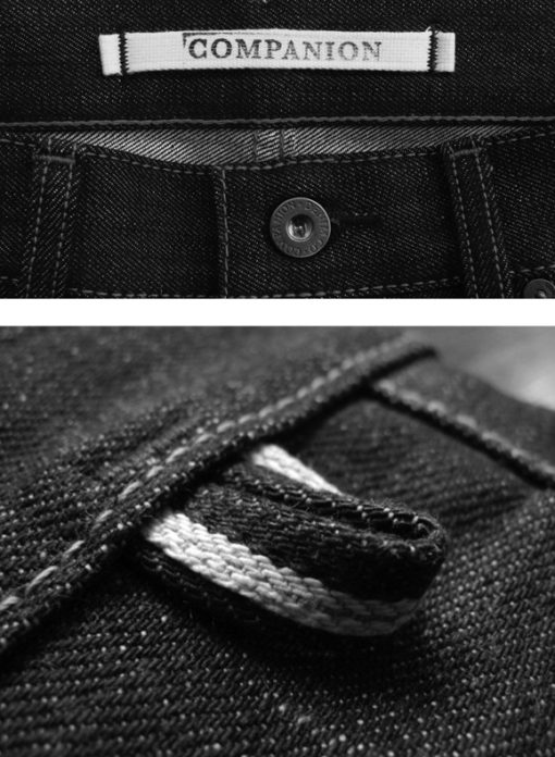 Companion Denim raw selvedge denim key hanger loop