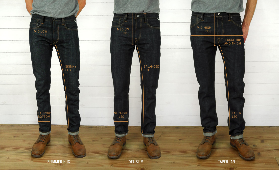 Companion Denim raw selvedge denim jeans fits