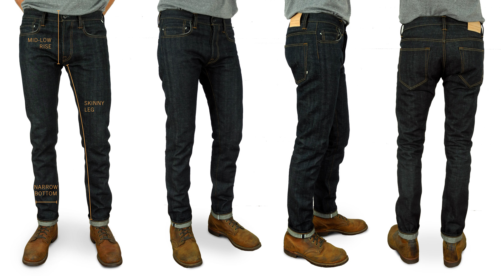 Companion Denim Slimmer Hug fit raw selvedge denim fits