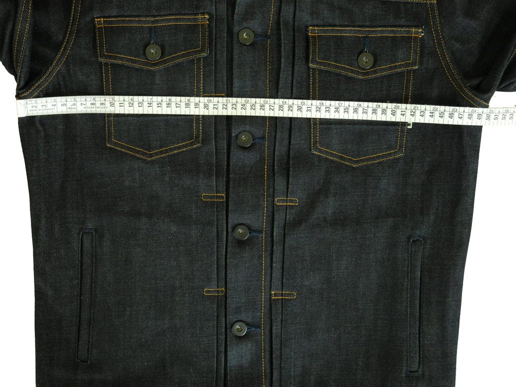 Companion Denim Type III raw jacket how to measure 14 Oz. Raw selvedge denim, Candiani