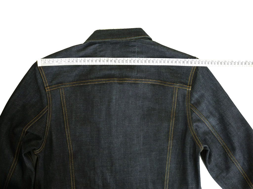 Companion Denim Type III jacket raw how to measure 14 Oz. Raw selvedge denim, Candiani