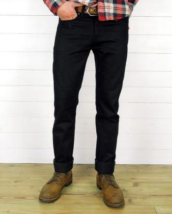 Companion Denim Joel 02CA style 13 Oz. Black selvedge denim,
