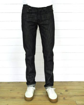 Joel 01I style Companion Denim black raw selvedge denim keyhanger loop
