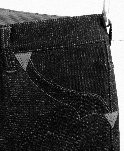 Companion Denim raw selvedge denim custom jeans one- of-a-kind pair handcrafted