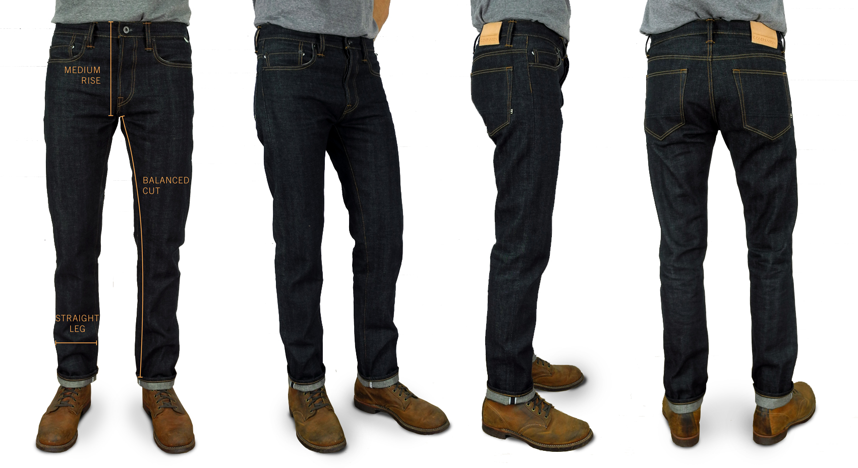 Companion Denim Joel Slim fit raw selvedge denim fits