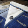 Companion Denim Jan 02CO style 12 Oz. 70´s blue, pink selvedge denim, chainstitched buttonholes