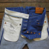 Companion Denim Jan 02CO style 12 Oz. 70´s blue, pink selvedge denim, corozo sew button