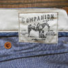 Companion Denim Jan 02CO style 12 Oz. 70´s blue, pink selvedge denim,