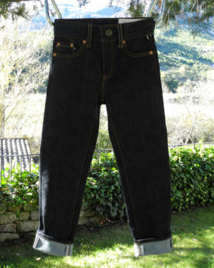 Companion Denim SCOUT 01T 12 Oz. Deep blue comfort, red selvedge denim,