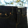 Companion Denim SCOUT 01T 12 Oz. Deep blue comfort, red selvedge denim, selvedge key loop