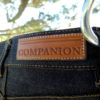 Companion Denim SCOUT 01T 12 Oz. Deep blue comfort, red selvedge denim, vegtan leather patch