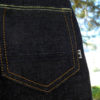 Companion Denim SCOUT 01T 12 Oz. Deep blue comfort, red selvedge denim, Companion striped flag