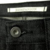 Companion Denim Joel 01I style black raw selvedge denim branded gunmetal buttons