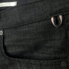Companion Denim Joel 01I style black raw selvedge denim keyhanger loop reinforced pocket openings
