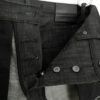 Joel 01I Companion Denim black raw selvedge denim branded gunmetal buttons and rivets chainstitched buttonholes