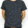 Companion Denim Indigo striped t-shirt 100% cotton Italy chest pocket