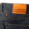 Companion Denim Jan 06KN raw selvedge denim rough and hairy 15oz custom jeans made to order cognac leather patch split waistband