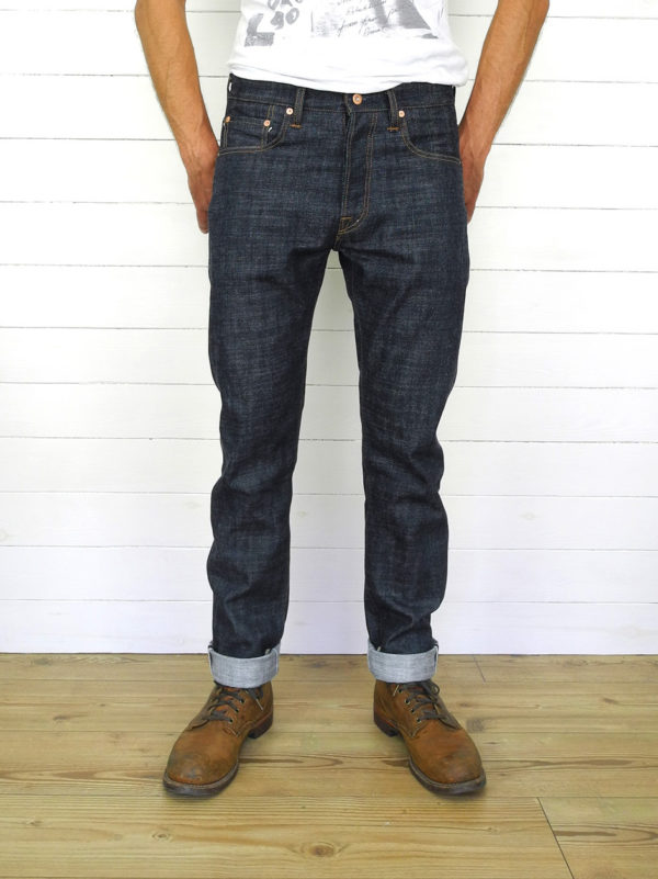 Companion Denim Jan 06KN raw selvedge denim rough and hairy 15oz custom jeans made to order