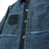 Companion Denim Type III jacket natural indigo overdyed, hidden pocket selvedge fly, binded inside pockets.