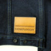 Companion Denim Type III jacket natural indigo overdyed, raw selvedge denim, leather patch