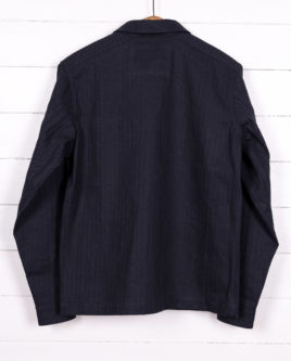 HERRINGBONE NAVY-back