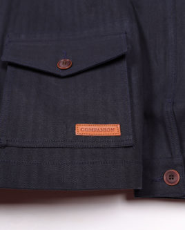 HERRINGBONE NAVY-pocket