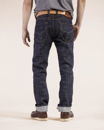 Jan 014KN raw selvedge denim 15oz rough and hairy